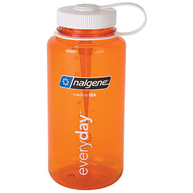 Nalgene 1L Wide Mouth Bottles Orange/White Tritan (2029)